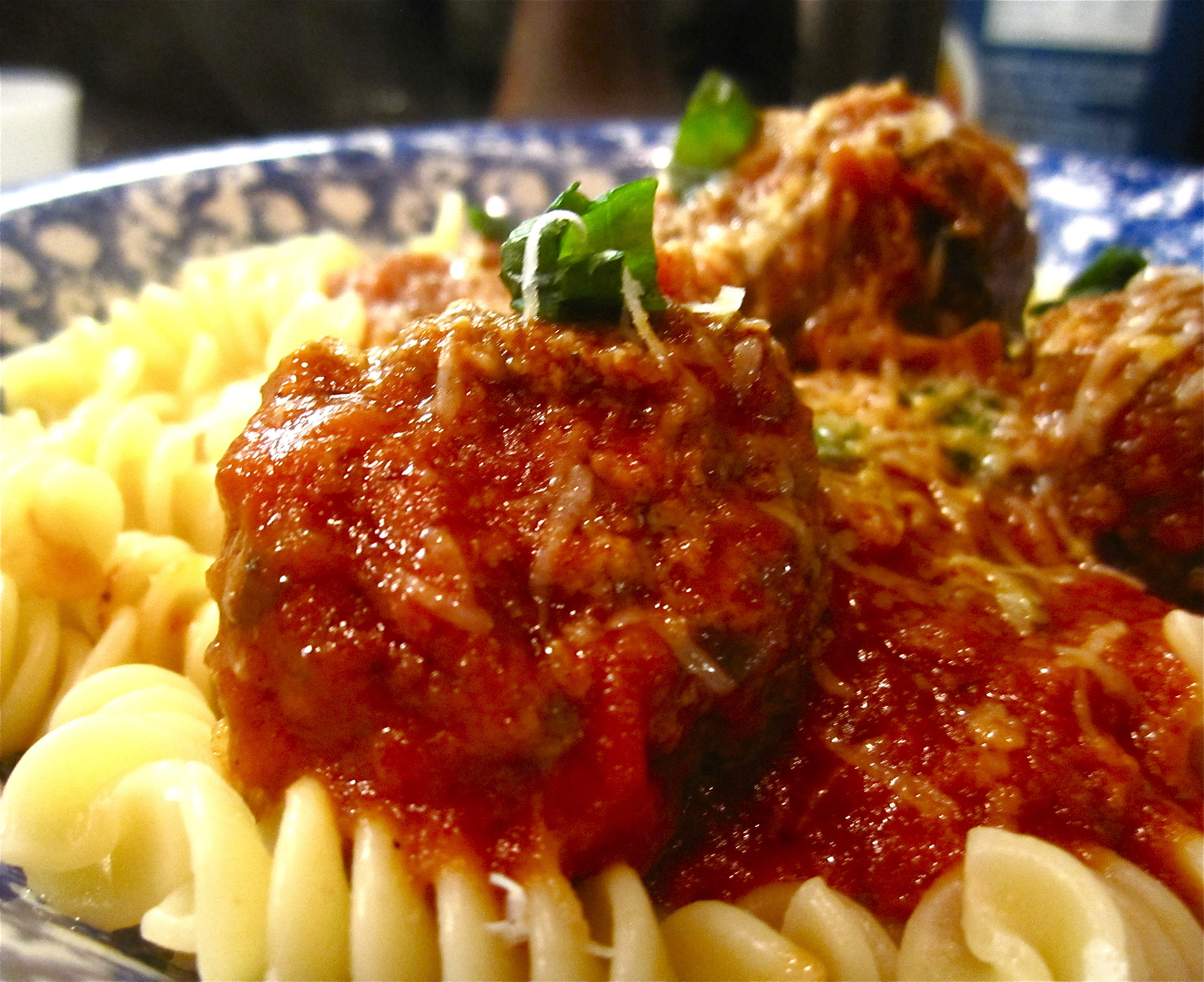 Meatballs with Fusilli