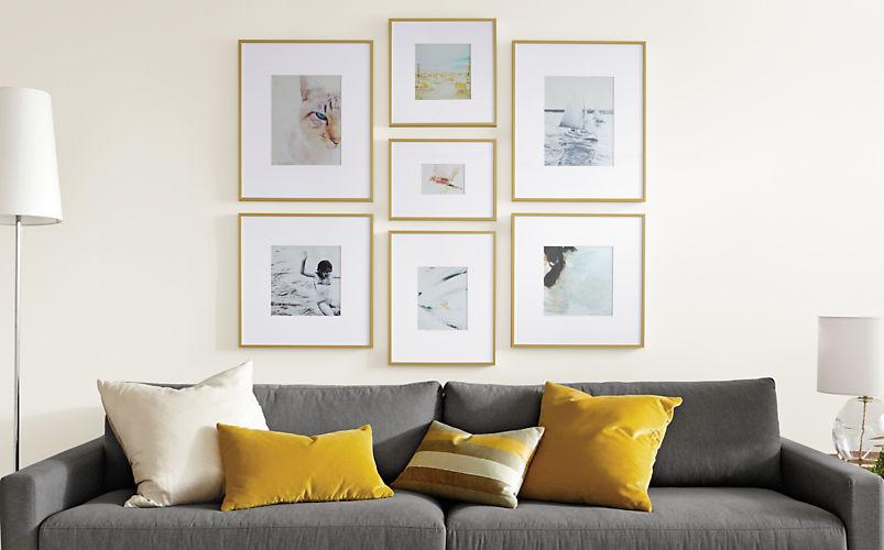 Room&Board Profile Frames in Gold