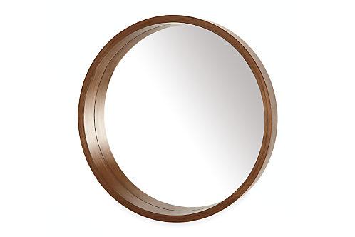 Room&Board Loft Modern Round Mirror
