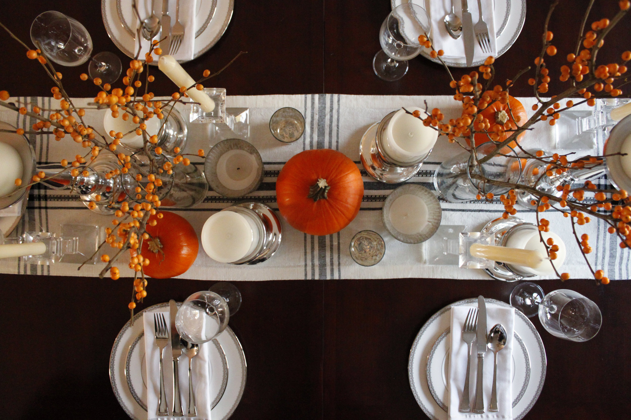 Candles and pumpkins up above.jpg