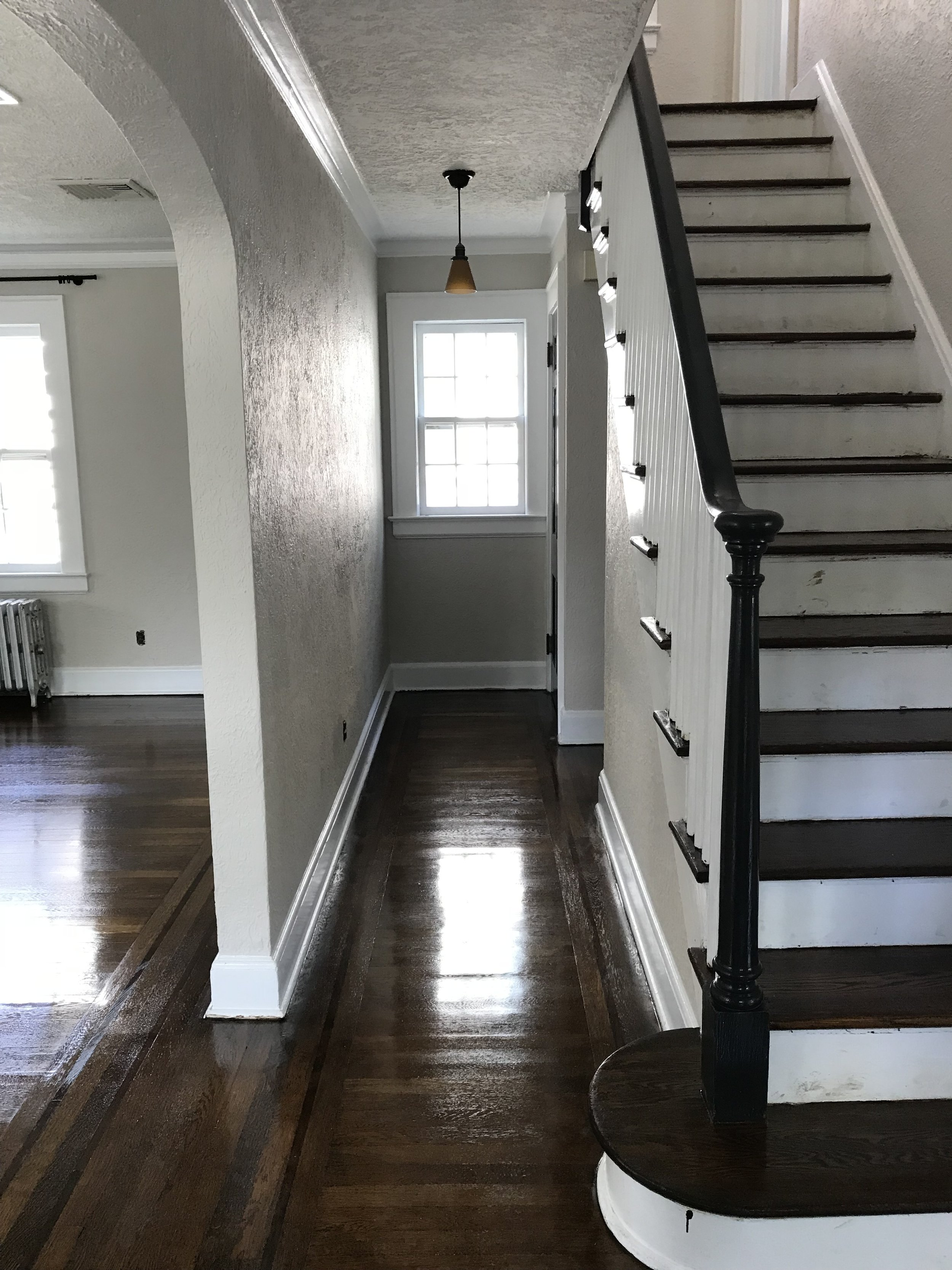 Post paint job and floor refinishing but pre-move in. I still can't get over these floors!