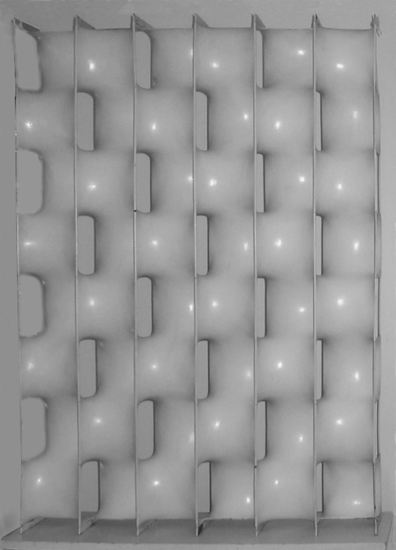 Erwin Hauer, Design 7,  1959, molded styrene over steel rods, 42x32x7.5