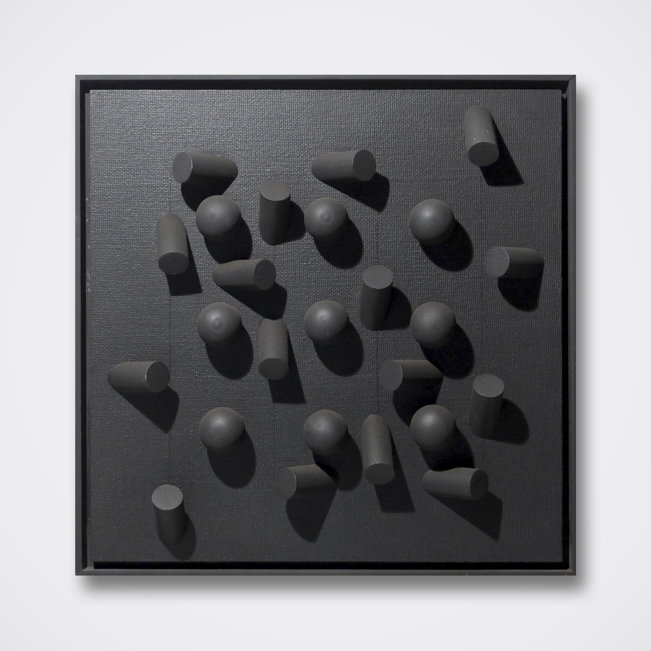 James McNair, Untitled (black), 1962, wood construction 16x16