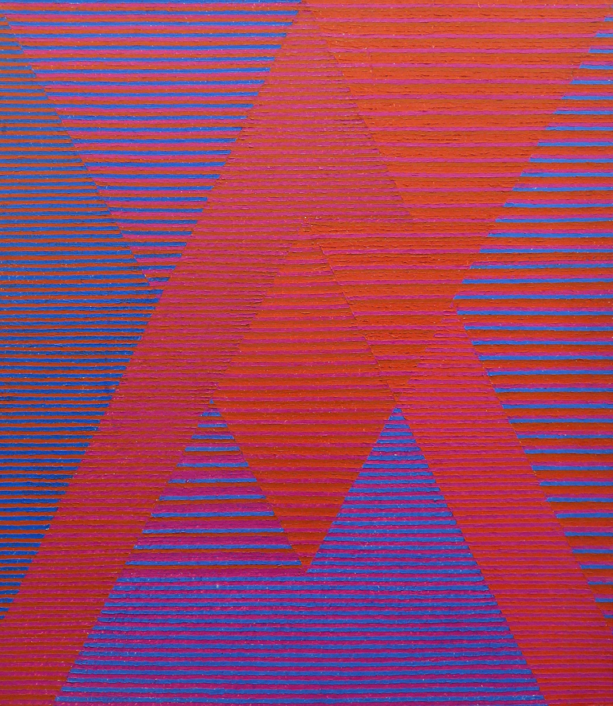 Lois Swirnoff, Intersections, 1955, oil on masonite, 30x26