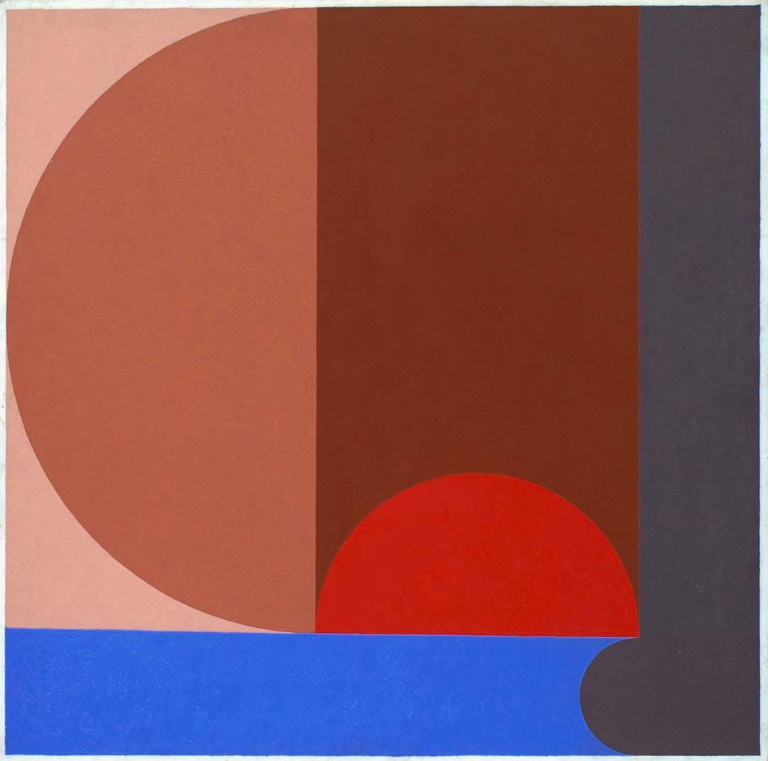 Sybil Wilson, Herold, 1962 oil on masonite, 36x36