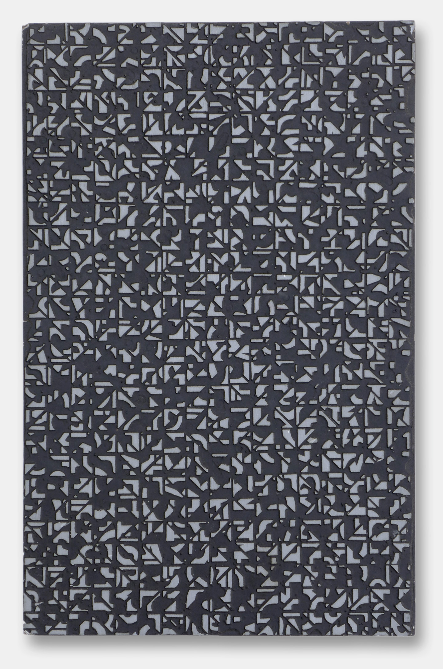 Norman Ives, Series IV-6, 1965, cast metal relief, 13.25x8.5x1.5