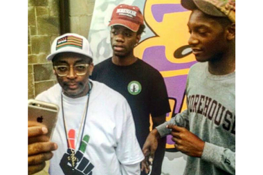 Frank Lawrence Jr. (center left) with Spike Lee.