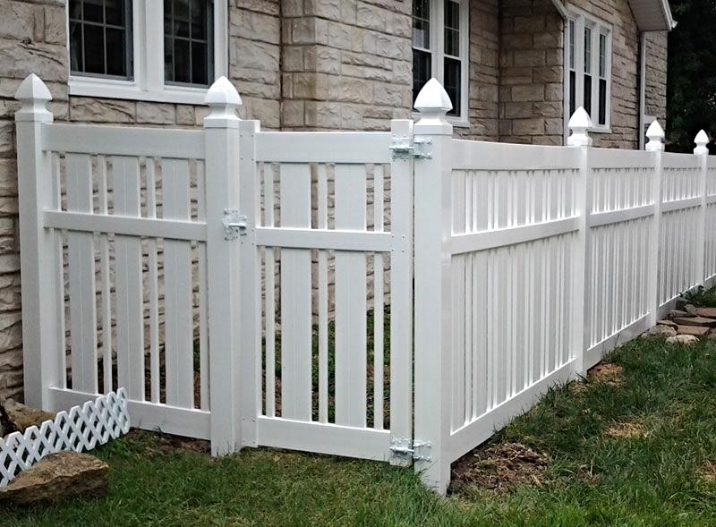 vinyl fence surrounding yard