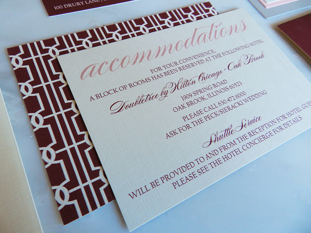 Lovely Links Wedding Invitation - Accommodations Insert - by Ashley Parker Creative