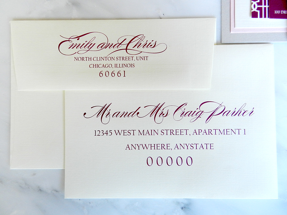 Lovely Links Wedding Invitations - Wedding Guest Envelope Addressing - by Ashley Parker Creative