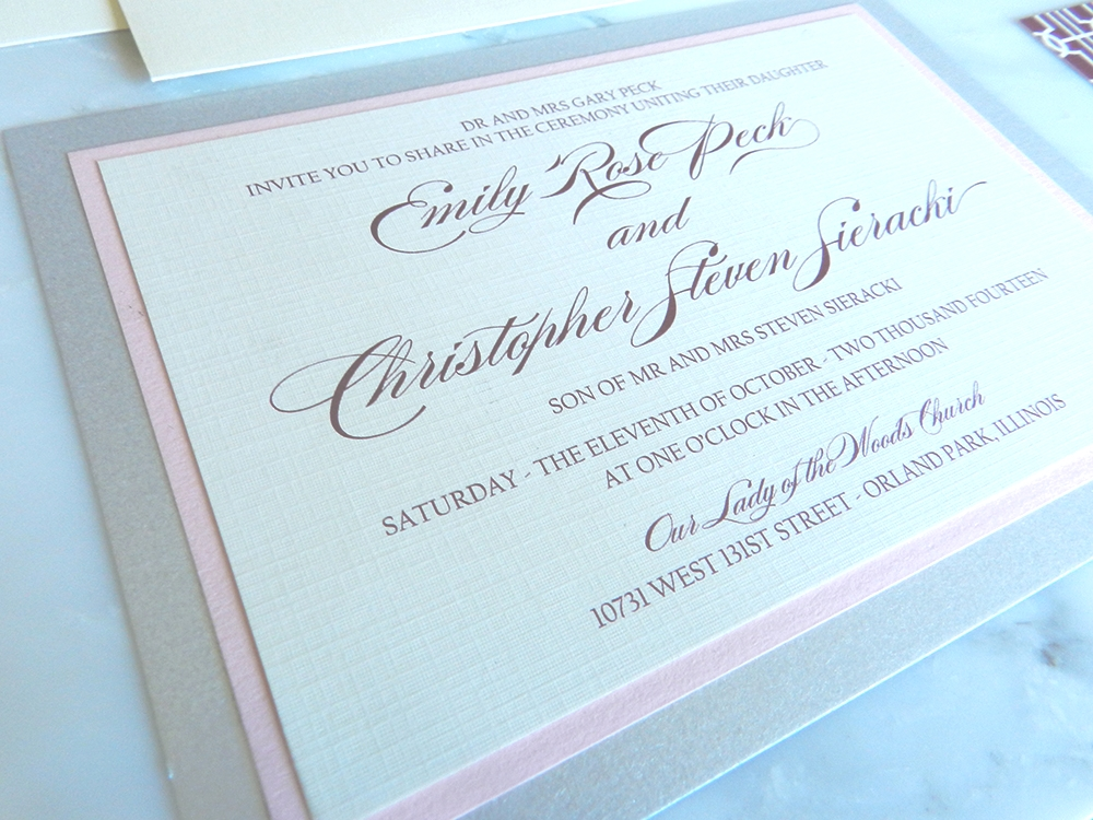 Lovely Links Wedding Invitation - Main Invite -  by Ashley Parker Creative