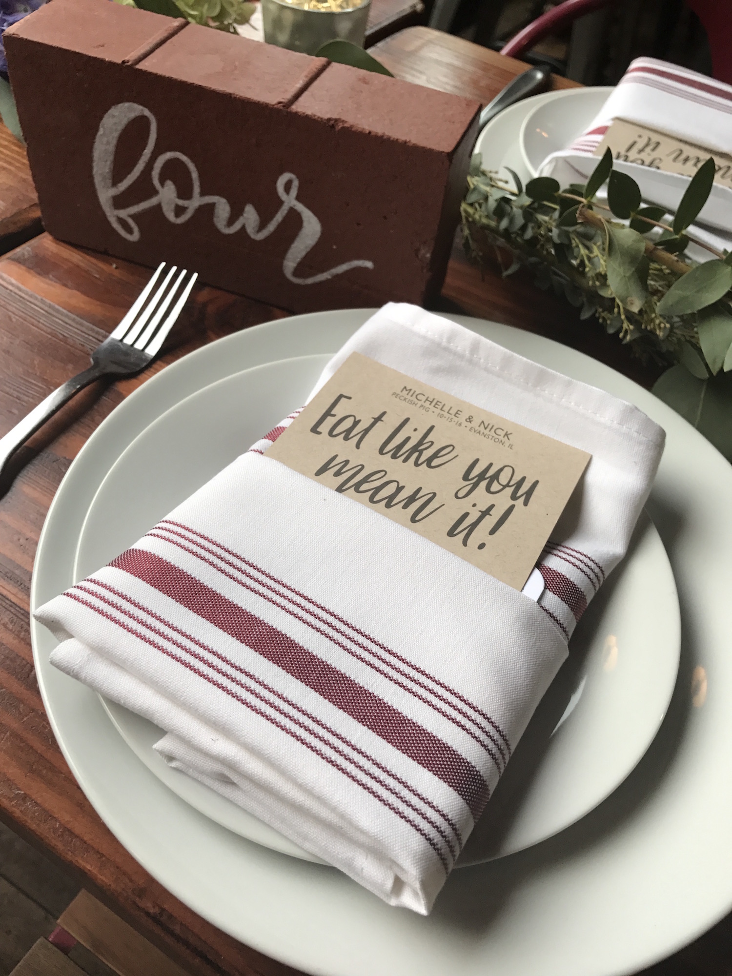Industrial Chic Modern Rustic Wedding Menus on Kraft Paper with Charcoal Ink by Ashley Parker Creative