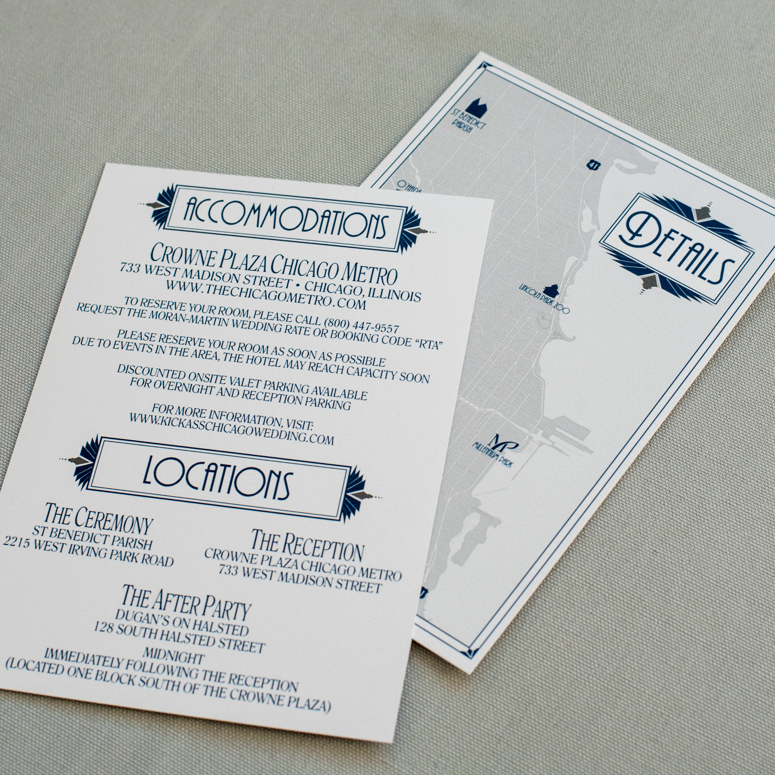 Chicago Wedding Invitation Ashley Parker Creative