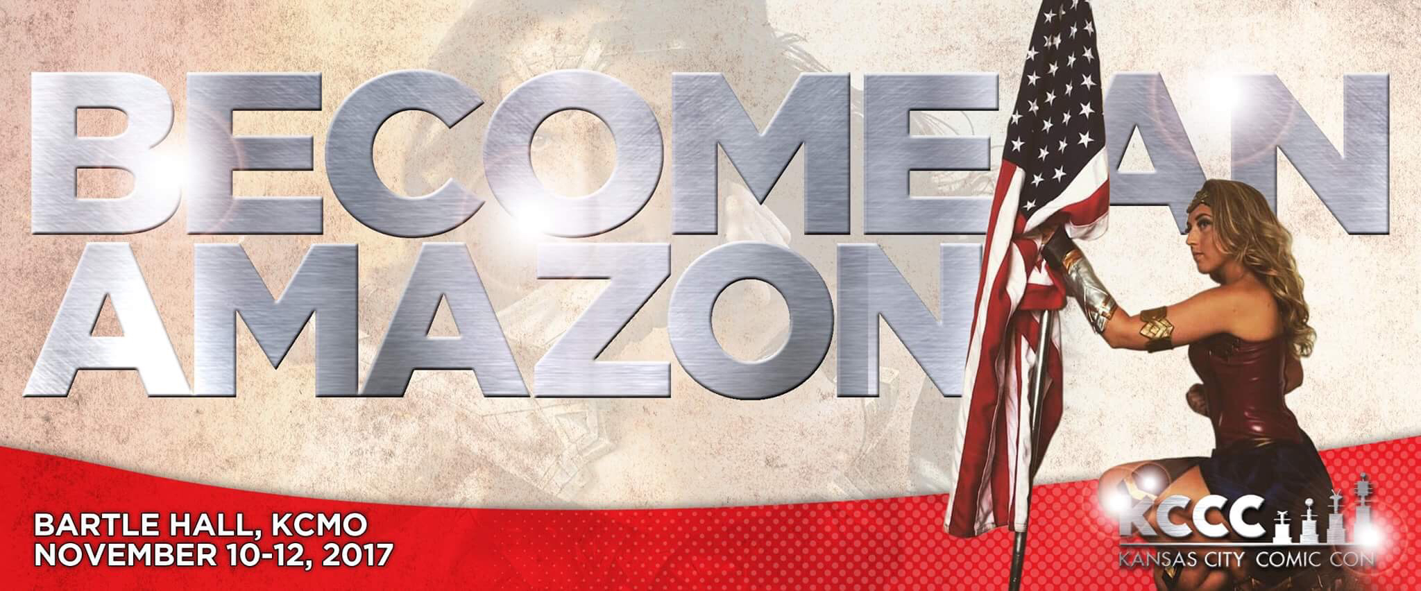 Become an Amazon (or Greek Warrior) at Kansas City Comic Con!  KCCC is bringing in a group of skilled cos-builders to run a 3-day cosplay building workshop during the convention!  After a short introduction to the materials and tools you will be using (Friday), you will spend two hours Saturday and two hours Sunday assembling and detailing your own personalized armor – pre-prepared and designed by the KCCC team. To top it all off we will have a photo shoot with your fellow Amazons and Greek Warriors on Sunday!  Hurry and reserve your spot today this event is only open to 50 students!  As a special bonus, all registered participants will be entered into a drawing for $100 in leather with which to begin crafting your next cosplay project! Click the link below to reserve your spot today!  Due to the materials and tools we will be working with, this event is only open to those 18 years of age and over. A liability waiver will be required to be signed prior to participation.