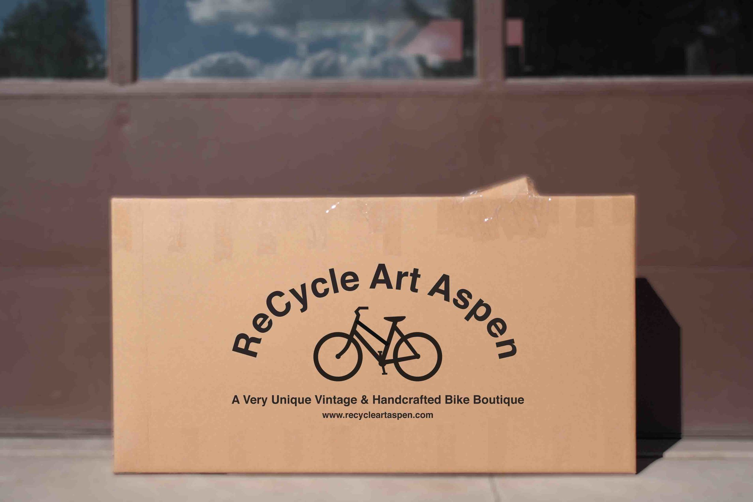 Congratulations! You are the proud new owner of a ReCycle bicycle. You are a few minutes away from your maiden voyage with your vintage bicycle, but before you can ride you'll need to follow this handy guide to reassembling your bike.