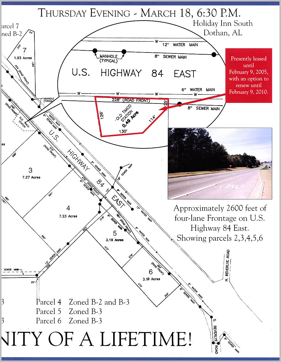 Dothan, AL Auction parcel map 2