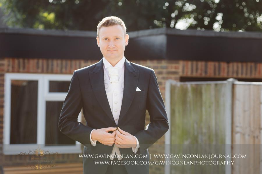 Groom Portrait.Wedding photography by gavin conlan photography Ltd