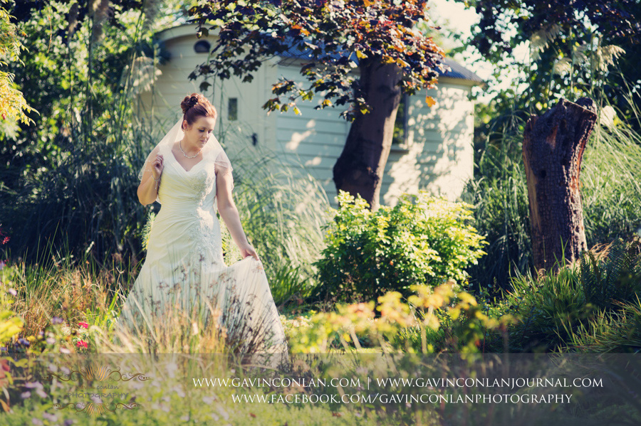 bridal portrait.Wedding photography at Moor Hall Venue by gavin conlan photography Ltd