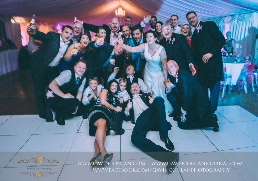 friends portrait.Wedding photography at Moor Hall Venue by gavin conlan photography Ltd