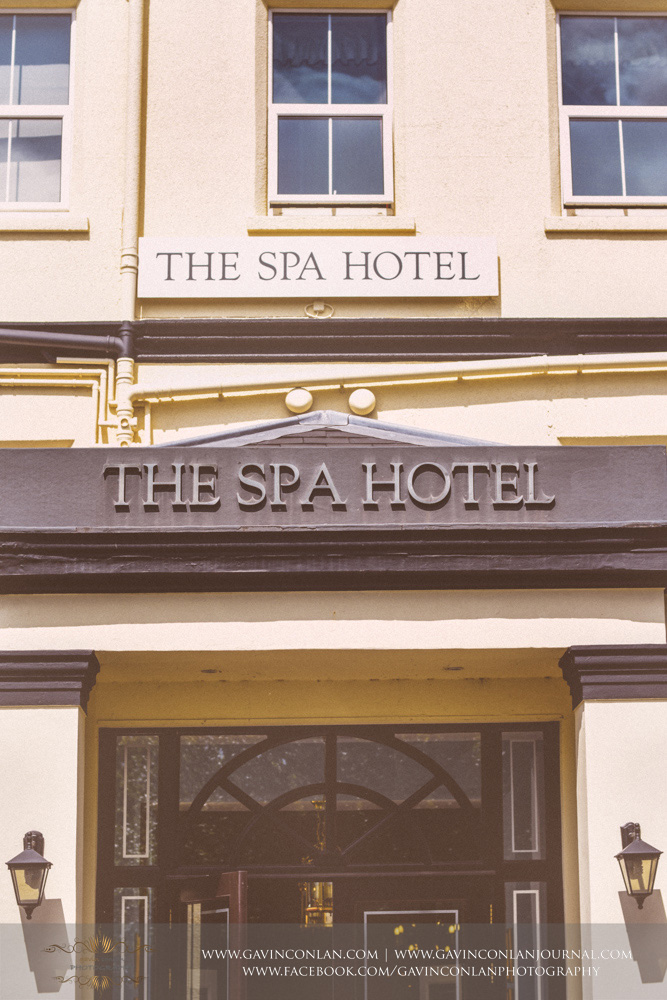 exterior detail shot of the entrance ofthe beautiful 4 star hotel in Royal Tunbridge Wells. Wedding photography at  The SPA Hotel  by  gavin conlan photography Ltd