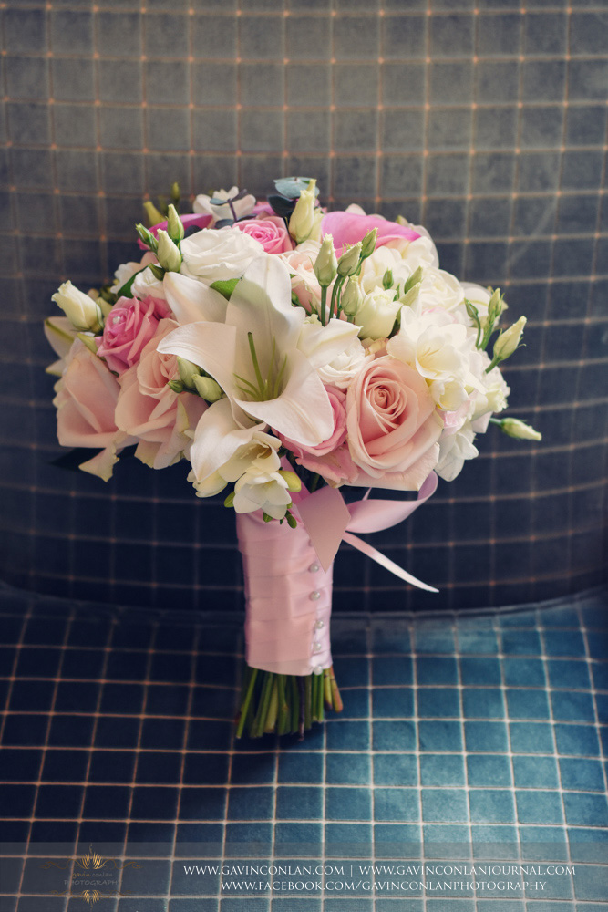 The bridesmaids flower bouquet.Wedding photography at  The SPA Hotel  by  gavin conlan photography Ltd
