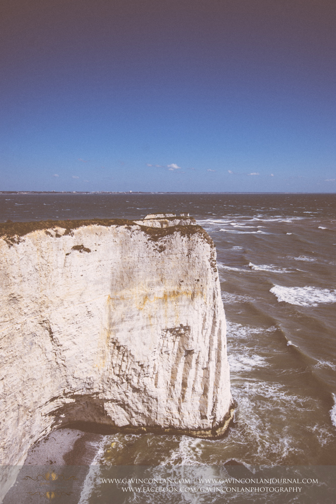 fine art landscape of chalk ridge at  Old Harry Rocks .Victoria and James Engagement Session in Bournemouth, Dorset by gavin conlan photography Ltd