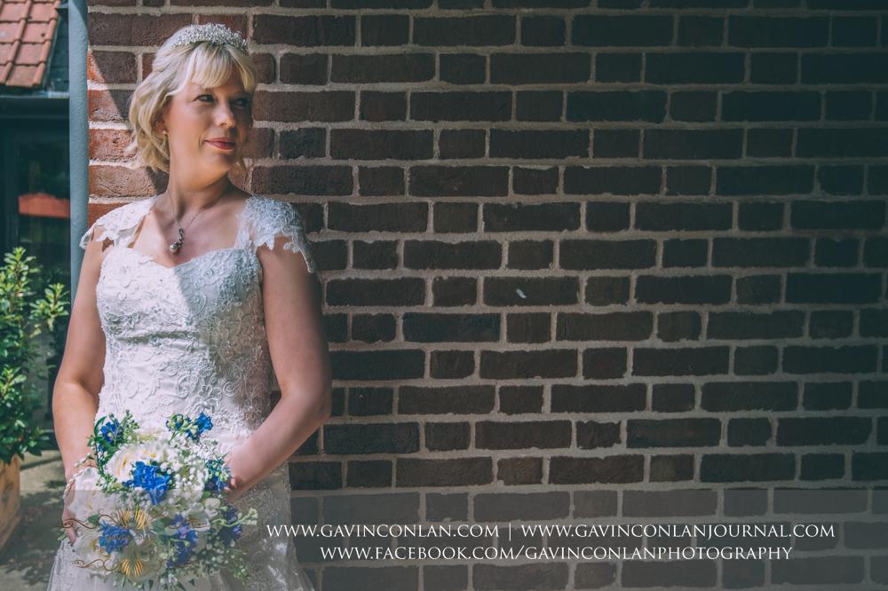 a beautiful bridal portrait.Wedding photography at The Barn Brasserie by Essex wedding photographer gavin conlan photography Ltd