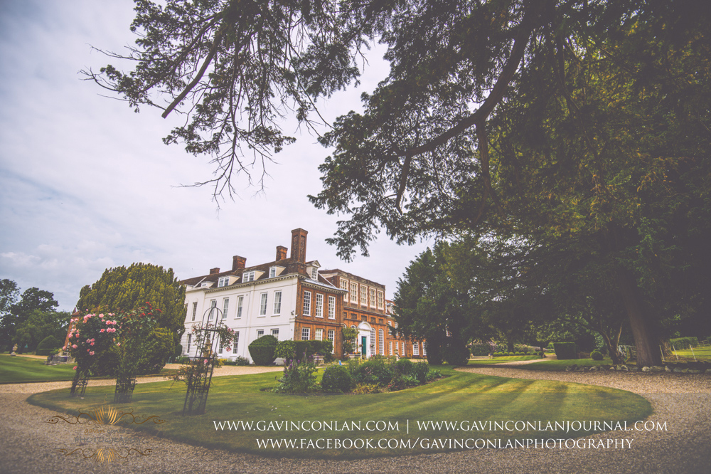 creative landscape showcasing the stunning grounds and exterior of Gosfield Hall.Wedding photography at Gosfield Hall by Essex wedding photographer gavin conlan photography Ltd