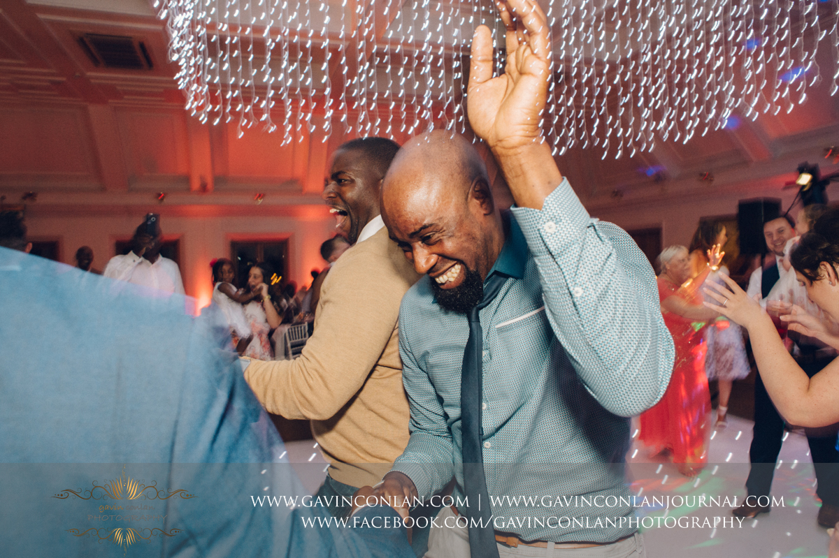 epic dance floor portrait full of emotion in The Banqueting Suite at Stock Brook Country Club. Wedding photography at  Stock Brook Country Club  by  gavin conlan photography Ltd