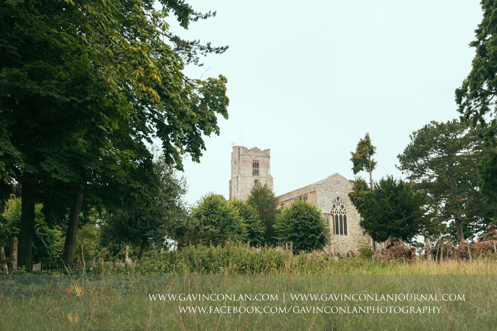 creative landscape photograph of St Mary the Virgin Church.  Essex wedding photography at  St Mary the Virgin Church  by  gavin conlan photography Ltd