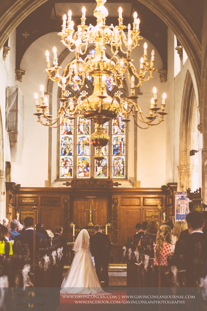 beautiful ceremony portrait at St Mary the Virgin Church.  Essex wedding photography at  St Mary the Virgin Church  by  gavin conlan photography Ltd