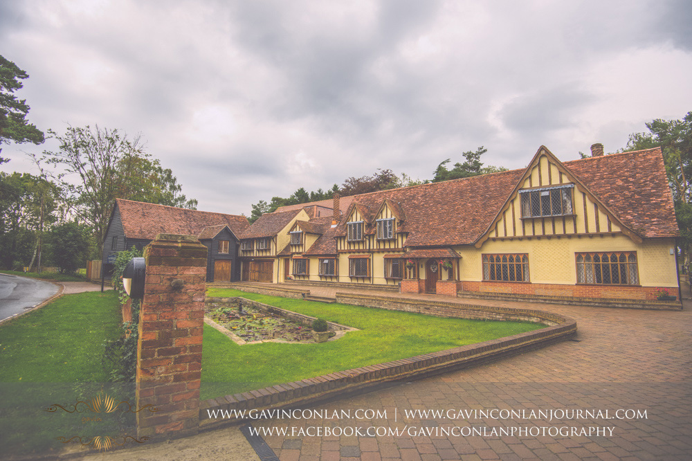 creative landscape photograph showcasing the beautiful exterior of Great Hallingbury Manor. Essex wedding photography at  Great Hallingbury Manor  by  gavin conlan photography Ltd