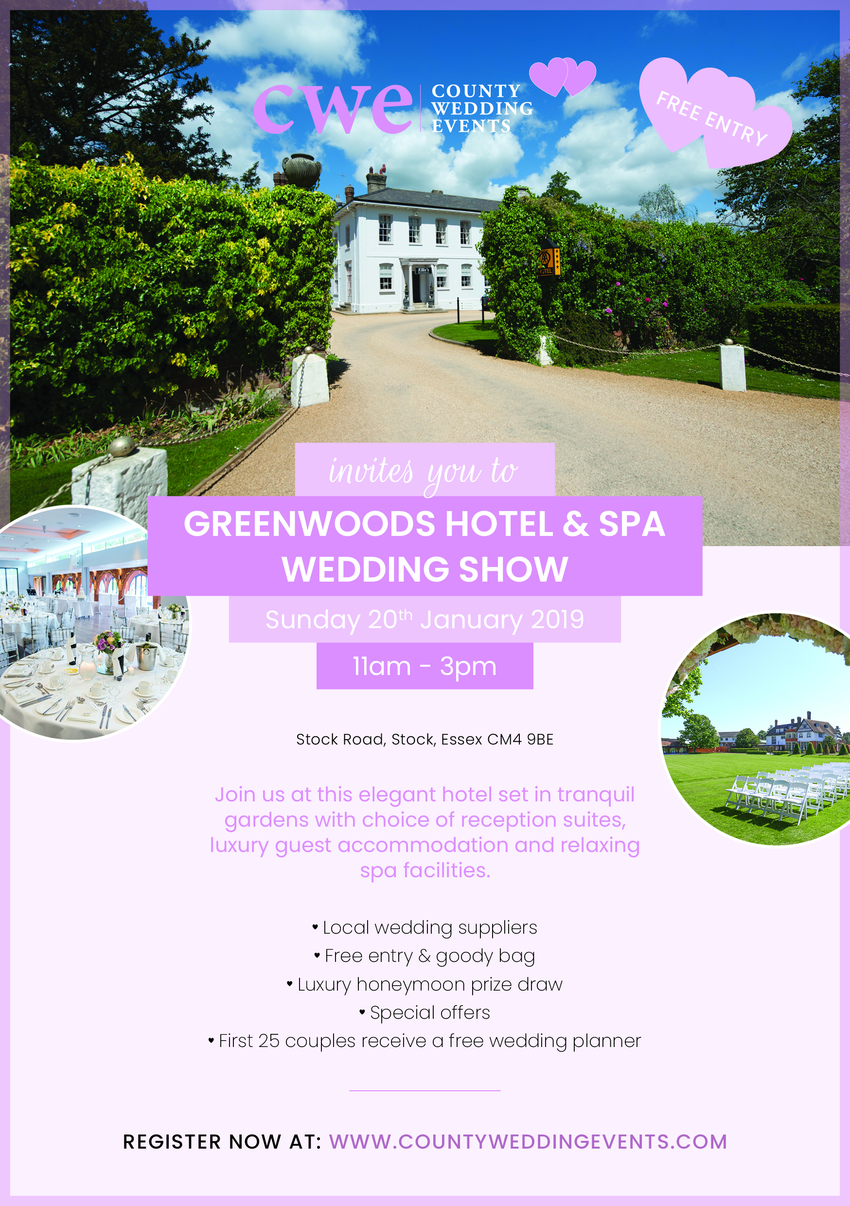 Greenwoods Hotel & Spa Wedding Show 20th January 2019