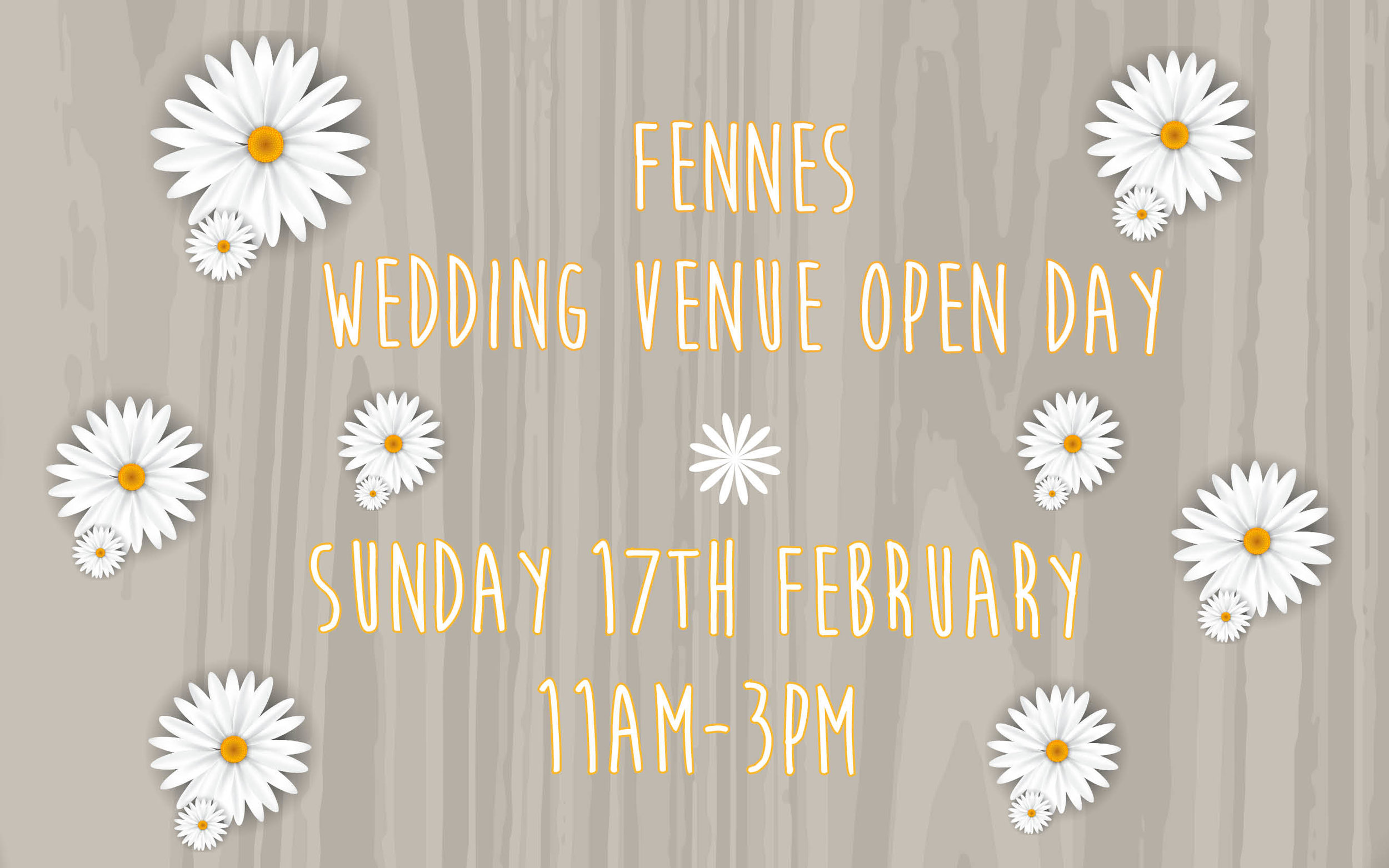 The Fennes Wedding Open Day February 2019