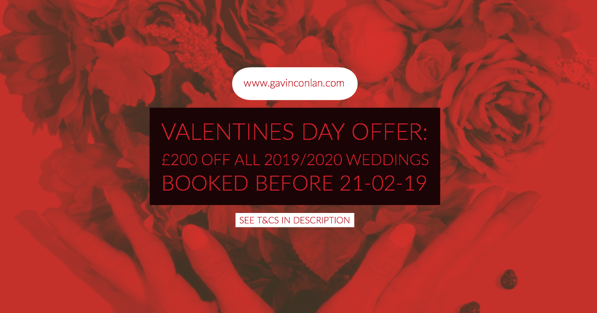 Valentines Day Wedding Photography Offer