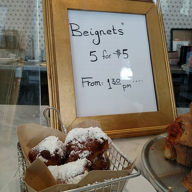 Beignets are a-go! Get em' while they're hot!