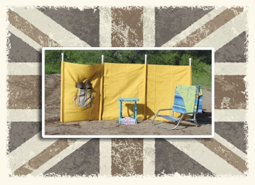 - All it took was a windy day at the beach for 3 crazy fun British girls to hatch an idea. A few hours (make that many hours) at their sewing machines haveproduced beautiful, high quality and fun products for the beach.