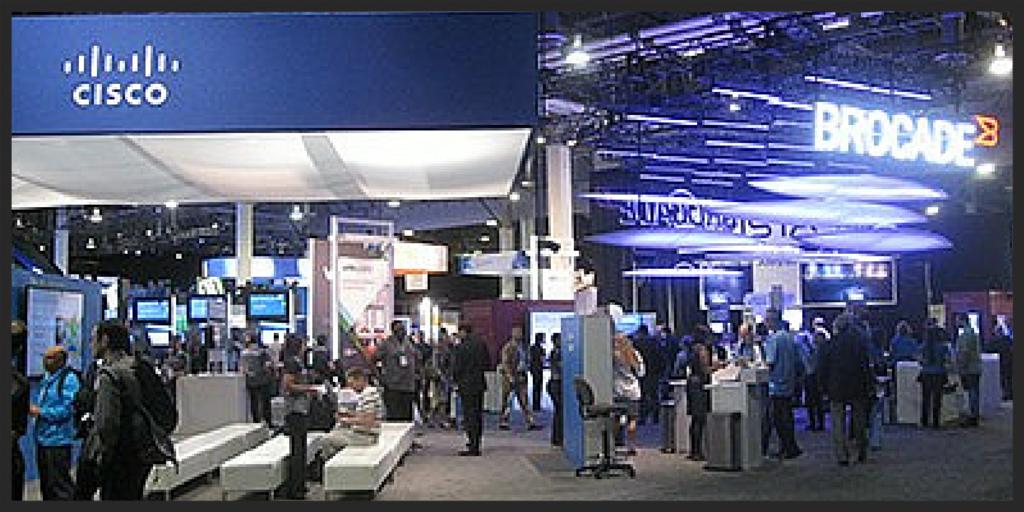 Cisco booth at EMC World