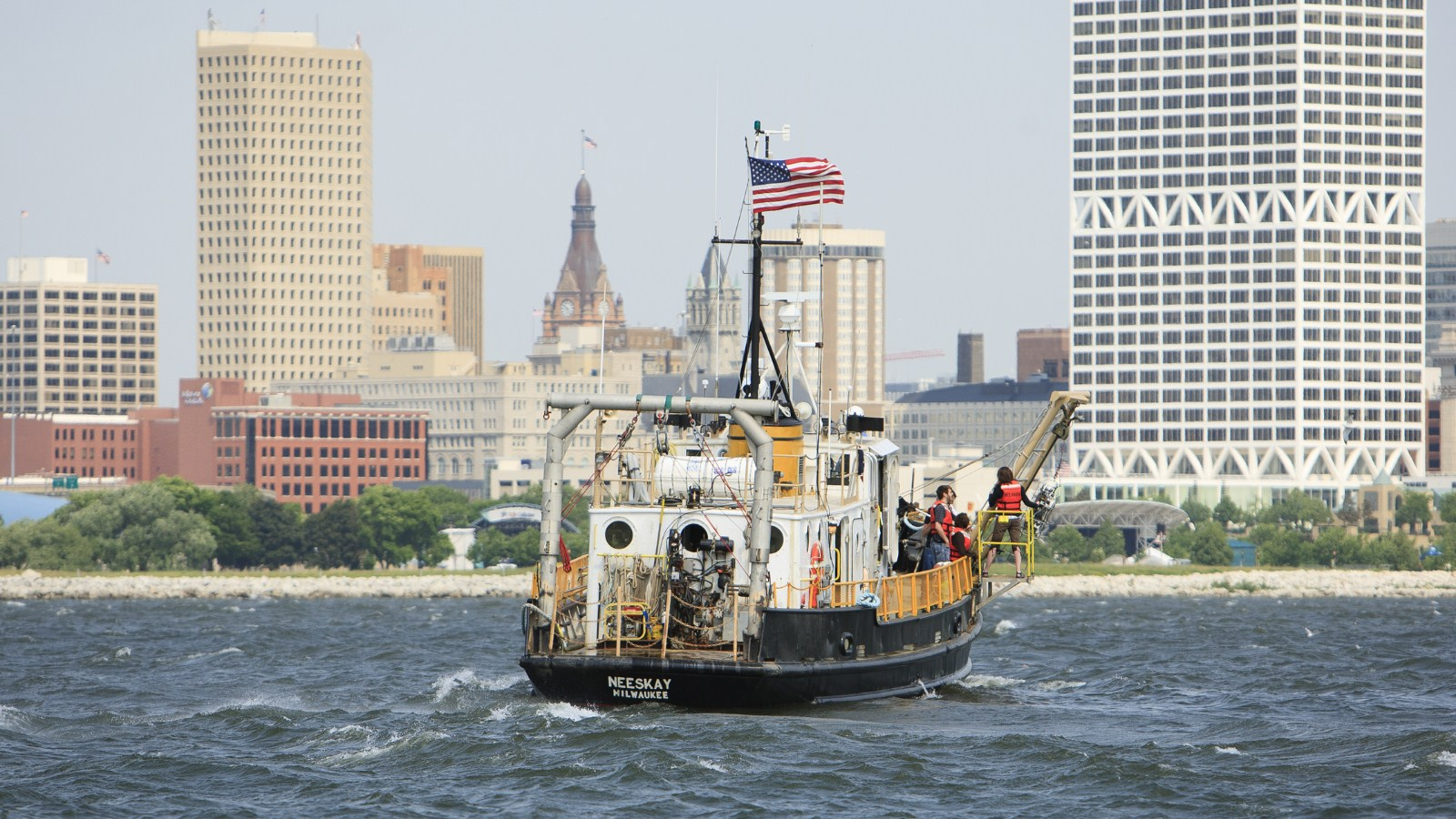 The research vessel Neeskay (photo: UW-Milwaukee)