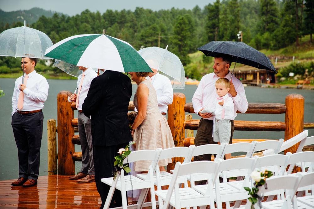 Evergreen Lake House Wedding - Rainy Colorado Wedding -47.jpg