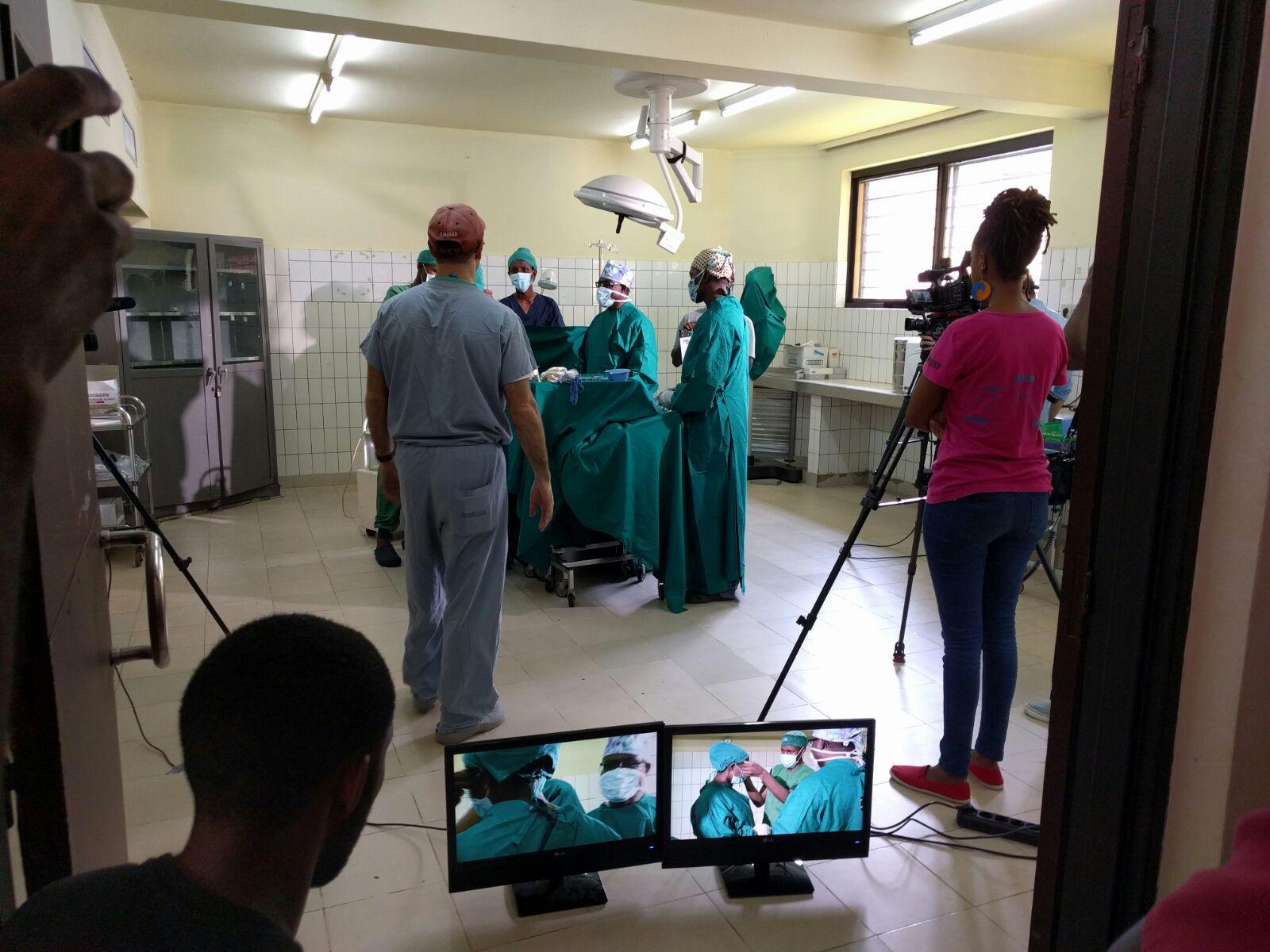 Filming NOTSS-VRC video scenarios in Kigali, Rwanda
