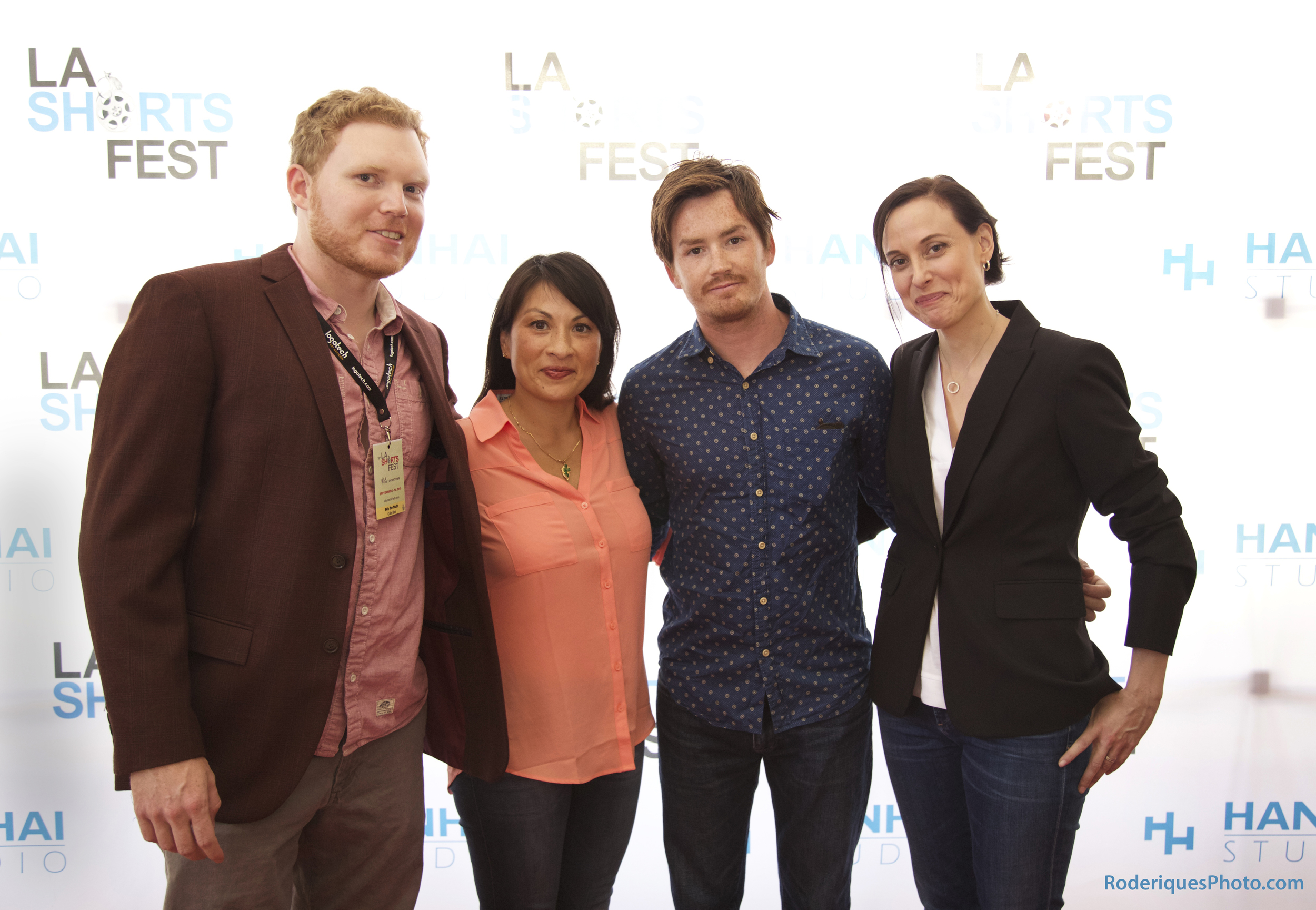 With writer-director Collin Blair, Dorris Guerrero and Mary Samuels at LA Regal Live.