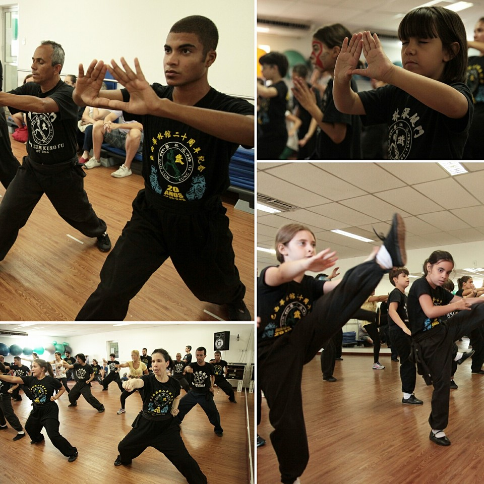 Students of Wah Lum Brazil practicing.