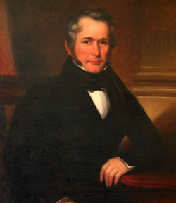 The portrait of General Robert Taylor hanging in the Taylor Grady House.