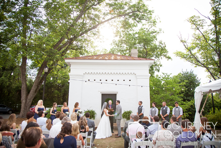 3. The Dovecote - the dovecote is the perfect rustic backdrop for the less formal look. Photo by  Courtney Goldman Photography