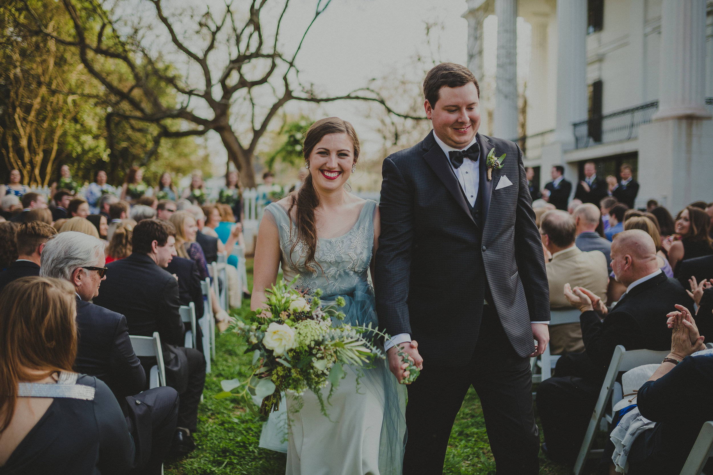 1. The Side Yard is our most popular ceremony site for all seasons - here we see it in early March for a spring wedding. Photo by  Twin Hearts Photography