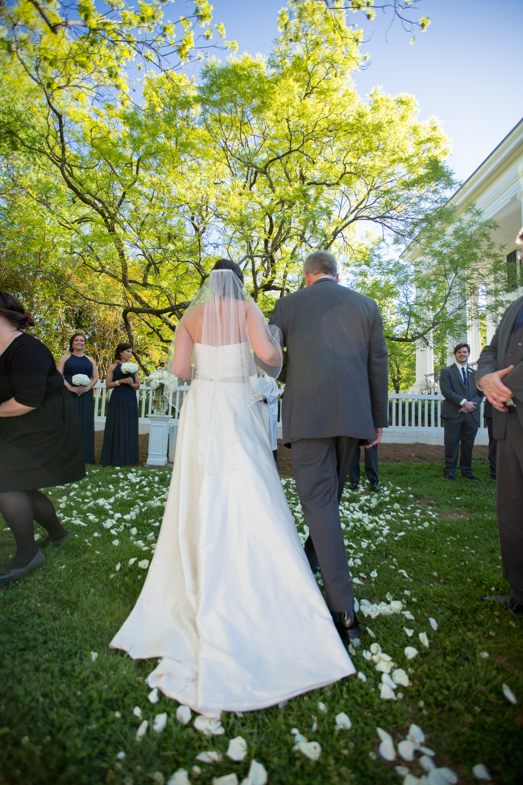 We're obsessed with this photo, so here it is again. April wedding in the Side Yard, photo by  Valerie & Co. Photographers