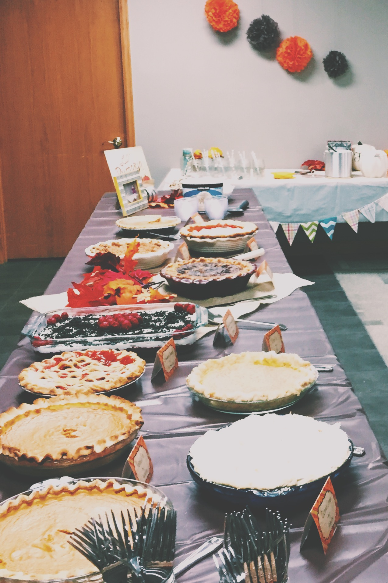 Lil Pumpkin baby shower theme- Pies and fall drinks | finicky designs