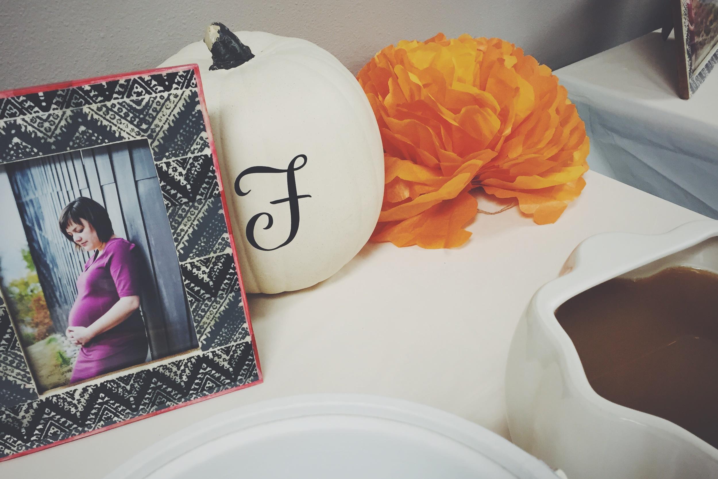 Lil Pumpkin baby shower theme | finicky designs