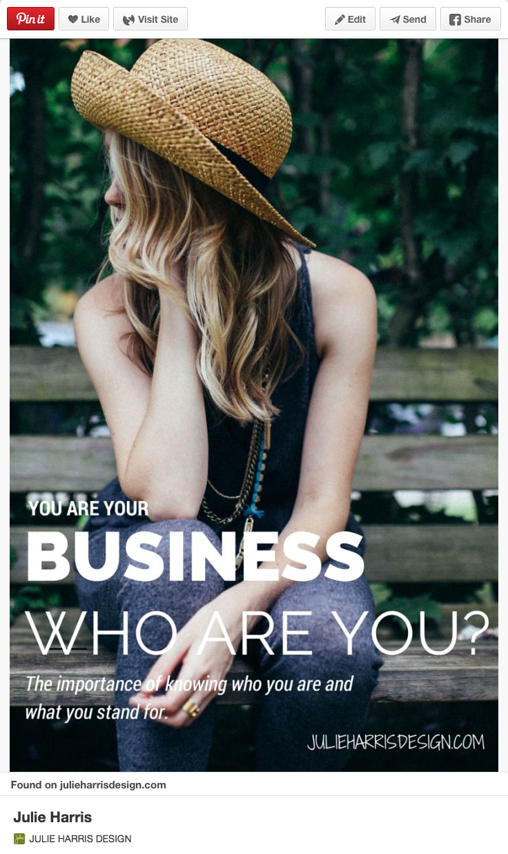 You are your business by Julie Harris Design